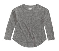 Toddlers High-Low Hemline Shirt, Charcoal Heather