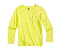 Epic Threads Girls Solid Pocket T-Shirt, Electric Citron