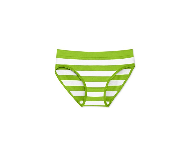 Little Girls' Hipster Underwear, Lime/White