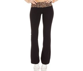 Material Girl Active Juniors' Foldover Waistband  Yoga Pants, Black