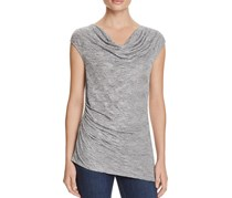 Calvin Klein Ruched Cowl-Neck Top, Tin