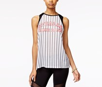 Material Girl Active Juniors' Graphic Muscle T-Shirt, Bright White