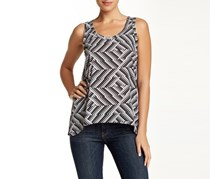 Macbeth Collection Printed Front Tank, Black/White