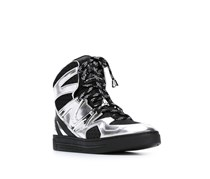 Marc By Marc Jacobs 'Ninja' Hi-Top Sneakers, Black/Silver