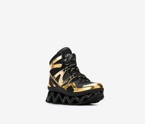 Women Ninja Wave High-Top Platform Sneaker, Black/Gold