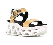 Marc By Marc Jacobs 'Ninja Strass' Wave Sandals, Gold