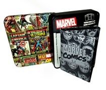 Marvel Comic Multi Character Trifold Wallet, Black