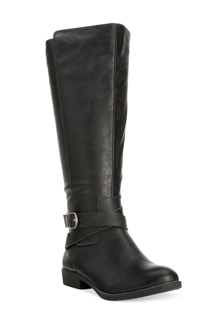 Madixe Casual Riding Boots, Black