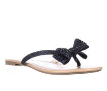 INC Malissa Bow Thong Sandals, Eclipse Blue