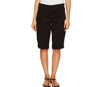 Nydj Christy Twill Bermuda Shorts, Black