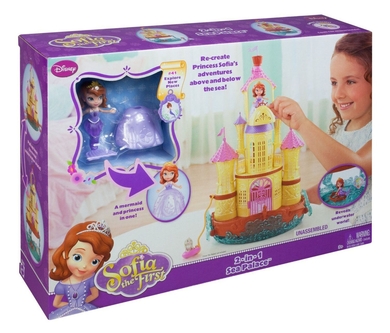 Disney Princess Sofia The First 2 In 1 Sea Palace Playset Brands For Less