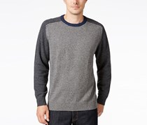 Tricots St. Raphael Colorblocked Baseball Sweater, Grey