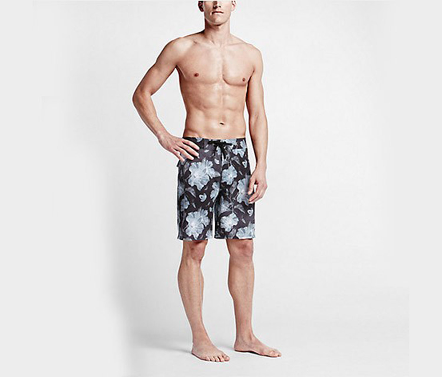 Hurley Men's  Phantom Flora Boardshort, Black