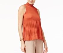Cable & Gauge Pleated Top, Brick