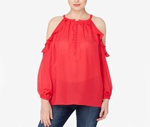 Catherine Malandrino Ruffled Off-The-Shoulder Top, Nolita Red