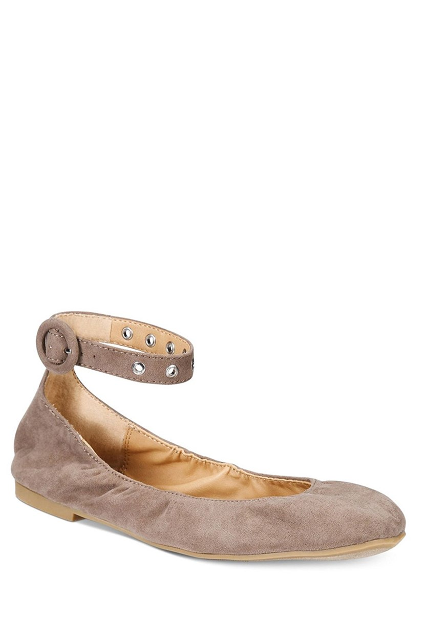 Francy Ankle-Strap Flats, Taupe