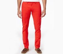 Ben Sherman Men's Slim-Fit Stretch Chino Pants, Washed Red