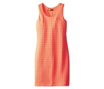 Big Girls' Embossed Pop Up Dress,Electric Coral