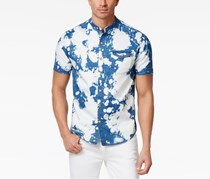 Sean John Men's Bleached Denim Shirt, Artist Wash