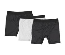 Life Fitness Performance Boxer Briefs, Black/Black/Gray Marled