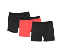 Life Fitness Performance Boxer Briefs, Black/Black/Red