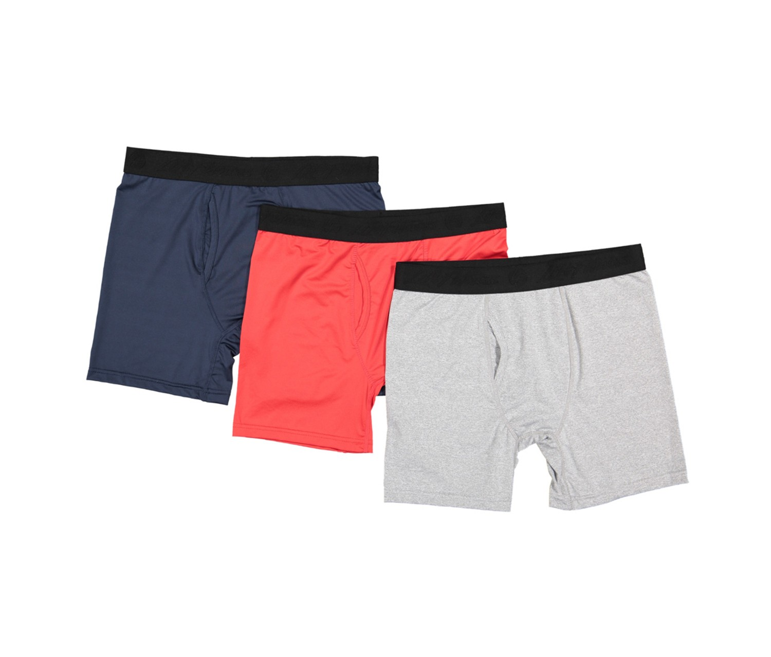 Life Fitness Performance Boxer Briefs, Navy/Red/Gray