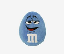 M&M Character Face Plush Pillow, Blue