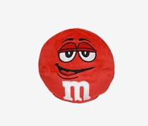M&M Character Face Plush Pillow, Red