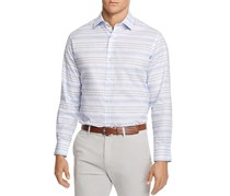 TailorByrd Larch Stripe Button-Down Shirt, Light Blue