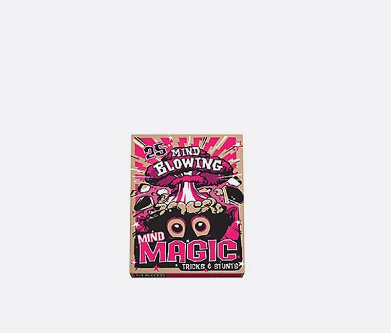 25 Mind Blowing Mind Magic Tricks Set, Brown