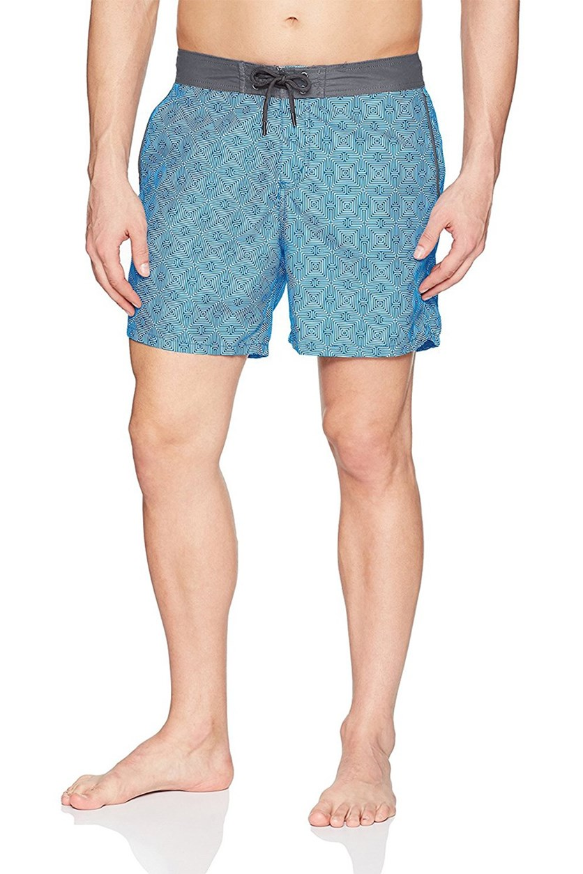 Mr. Swim Mens Maze Chuck Swim Trunks, Blue