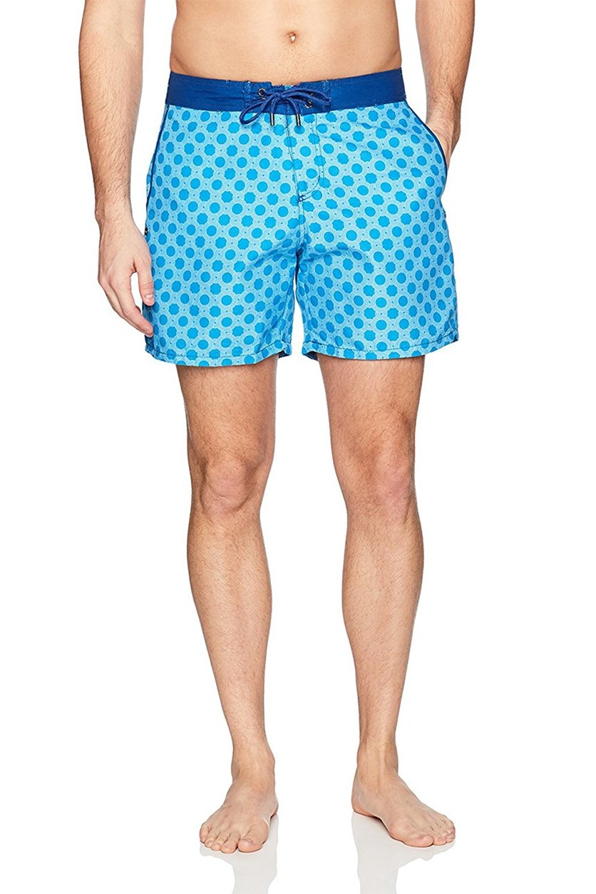 Mr. Swim Mens Figure 8 Chuck Swim Trunks, Blue