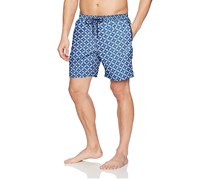 Mr. Swim Men's Mosaic Print Swim Trunks, Blue/Aqua
