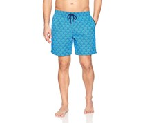 Mr. Swim Deco Print Swim Trunks, Aqua
