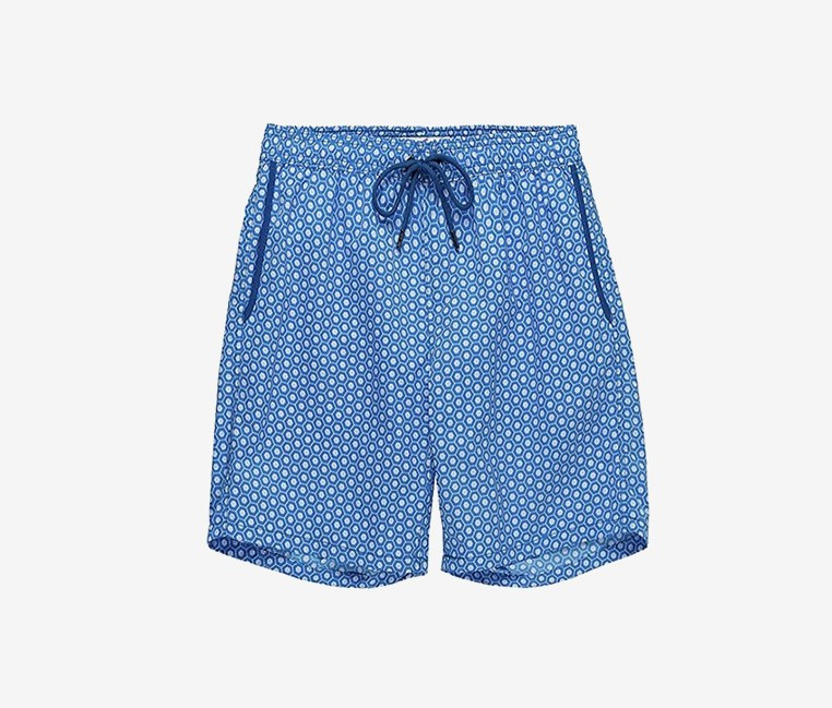087cca86cf Mr. Swim Men's Dale Elastic Boardshort, Sweet Blue Geo