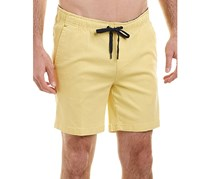 Mr. Swim Mens Chino Elastic Shorts, Yellow