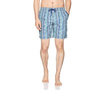 Beach Bros Men's Wavy Stripe Board Shorts, Navy