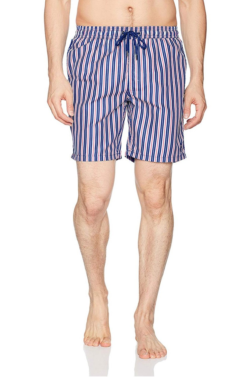Men's Striped Short, Navy