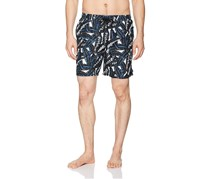Beach Bros Men's Banana Leaf Short, Blue