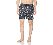 Beach Bros Men's Banana Leaf Short, Graphite