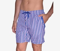 Beach Bros Men's Striped E-Board Short, Navy