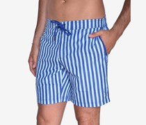 Beach Bros Men's Striped E-Board Short, Blue