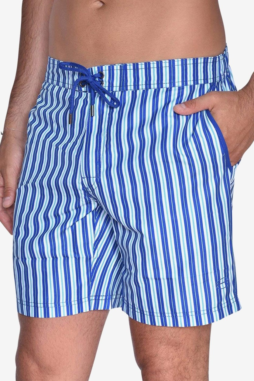 Men's Striped E-Board Short, Blue