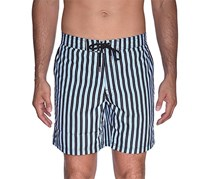 Beach Bros Men's Striped E-Board Shorts, Black