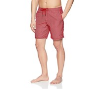 Beach Bros Men's Geo E-Board Short, Red