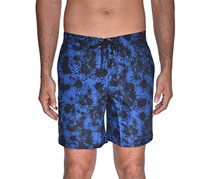 Beach Bros Men's Ink Splatter E-Board Shorts, Blue