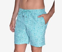 Beach Bros Men's Floral E-Board Short, Aqua