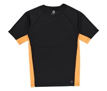 Mr. Swim Men's Color Block UPF 50+ Swim Tee, Black/Orange