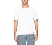 Mr. Swim Men's Contrast UPF 50+ Swim Tee, White/Navy