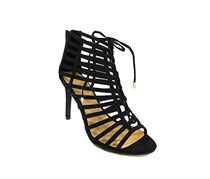 Raquel Caged Dress Sandals, Black
